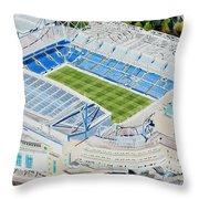 Stamford Bridge Stadia Art - Chelsea Fc Throw Pillow