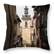 Stamped Bell Tower Throw Pillow