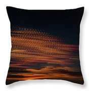 Stamped Sky Throw Pillow by Rod Sterling