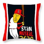 Stan Musial St Louis Cardinals Throw Pillow