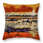 Stand By Me Throw Pillow by Vickie Warner