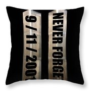 Stand Tall 911 Never Forget Spc Art Throw Pillow