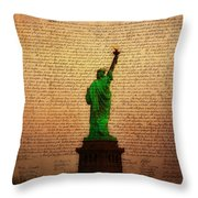 Stand Up For Freedom Throw Pillow