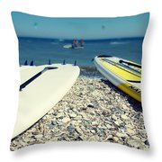 Stand Up Paddle Boards Throw Pillow