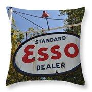 Standard Esso Dealer Throw Pillow