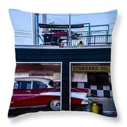 Standard Oil Products Throw Pillow