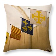 Standards Of The Knights Of The Templar Throw Pillow