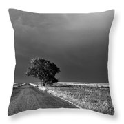 Standing All Alone Throw Pillow