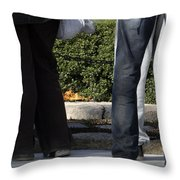 Standing Before The Eternal Flame Throw Pillow