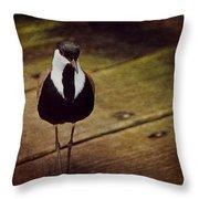Standing Bird Throw Pillow