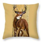 Standing Buck Throw Pillow