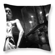 Standing Guard On Rodeo Drive Throw Pillow
