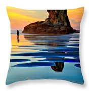 Standing In A Sea Of Blue Throw Pillow