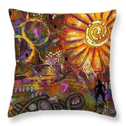 Standing On Hope Throw Pillow