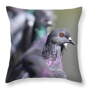 Standing Out In A Crowd Throw Pillow
