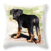 Standing Puppy Throw Pillow