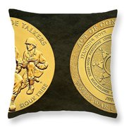 Standing Rock Sioux Tribe Code Talkers Bronze Medal Art Throw Pillow