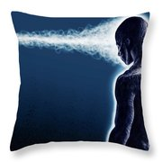 Standing Still Thoughts Proceeding Throw Pillow
