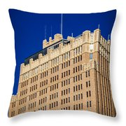 Standing Tall In San Antonio Throw Pillow
