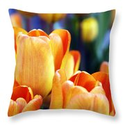Standing Tall Tulips Throw Pillow