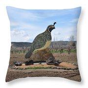 Standing Watch Of The Vineyard Throw Pillow