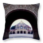 Stanford University Memorial Church Throw Pillow