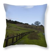 Stanford University The Dish Hiking Trail Throw Pillow