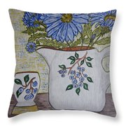 Stangl Blueberry Pottery Throw Pillow