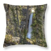 Stanley Falls At Beauty Creek Throw Pillow