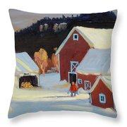 Stanley Kay Farm Throw Pillow