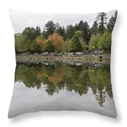 Stanley Park In Vancouver Bc Canada Throw Pillow