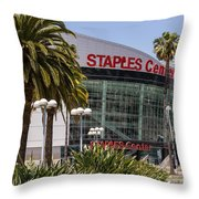 Staples Center In Los Angeles California Throw Pillow