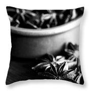 Star Anise Dish Throw Pillow