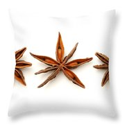 Star Anise Fruits Throw Pillow