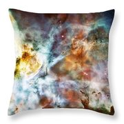 Star Birth In The Carina Nebula  Throw Pillow by Jennifer Rondinelli Reilly - Fine Art Photography