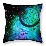Star Child - Time To Go Home Throw Pillow