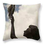 Star Clouds Sky Throw Pillow