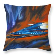 Star Cruiser Throw Pillow by James Christopher Hill