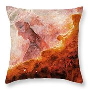 Star Dust Angel - Desert Throw Pillow