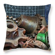 Star Gears Throw Pillow