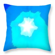 Star In The Morning Sky - Painting Like Photograph Of The Sun In The Morning Sky Throw Pillow