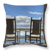Star Island Rocking Chairs Throw Pillow