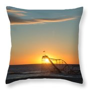 Star Jet Sunrise Silhouettte Throw Pillow