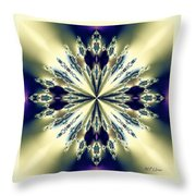 Star Jewel Fractal Throw Pillow