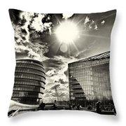 Star Light At City Hall Throw Pillow