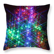 Star Like Christmas Lights Throw Pillow