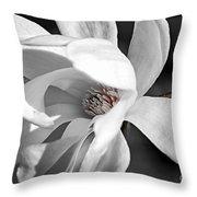 Star Magnolia Flower Throw Pillow
