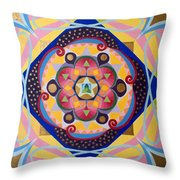 Star Mandala Throw Pillow