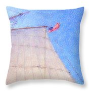 Star Of India. Flag And Sail Throw Pillow