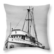 Star Of Monterey In Monterey Harbor Circa 1948 Throw Pillow